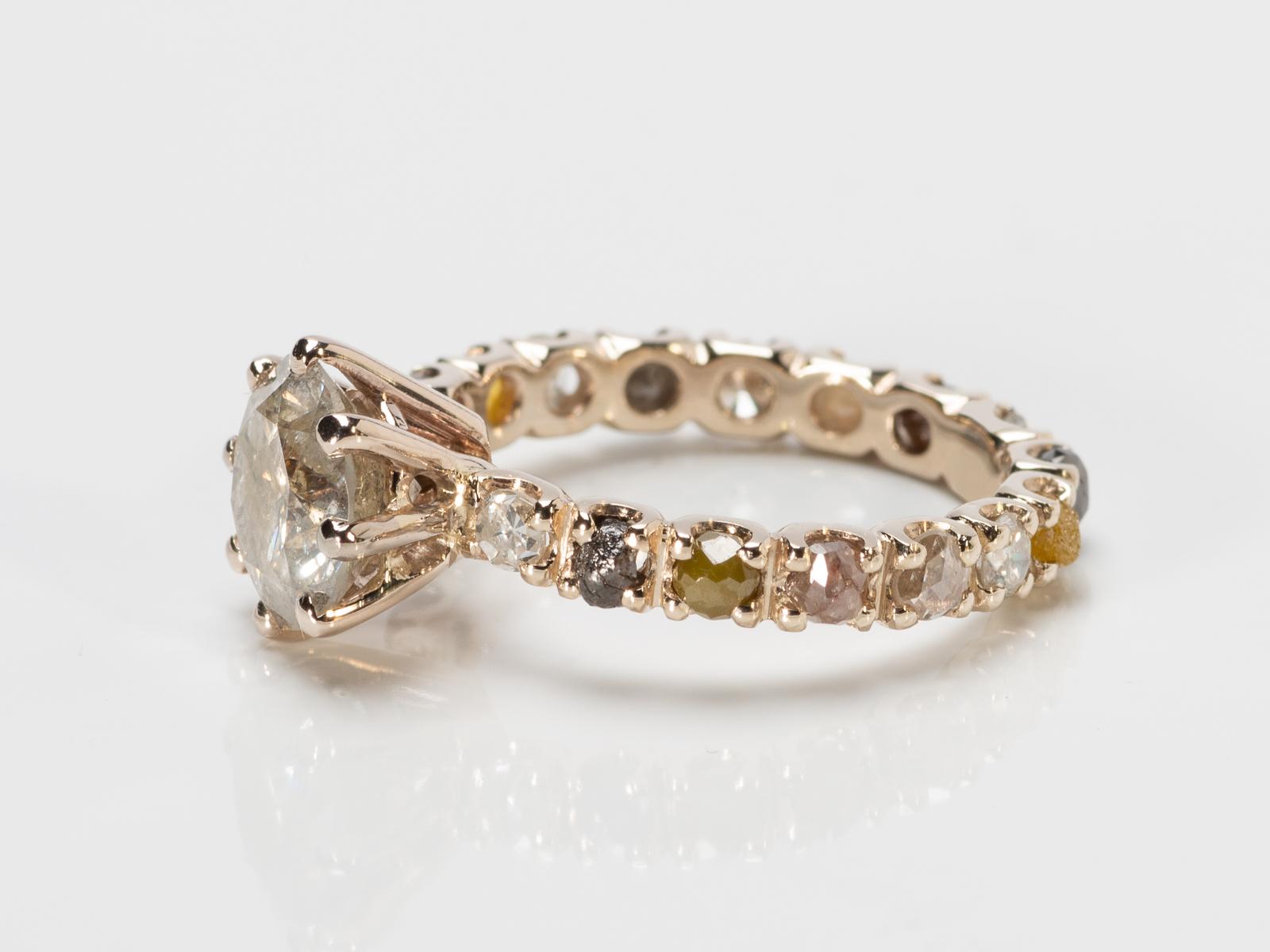 ice diamond op witgouden ring